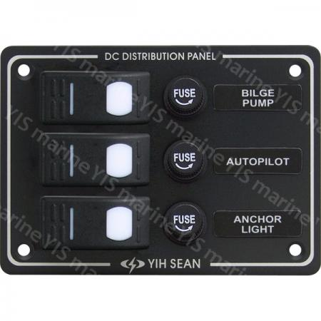 3P Water-resistant Switch Panel (Fuse) - SP3013F-3P Water-resistant Switch Panel with Fuses