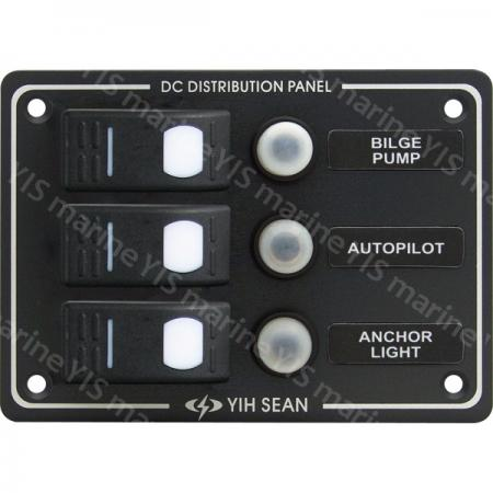 3P Water-resistant Switch Panel - SP3013P-3P Water-resistant Switch Panel with Circuit Breakers