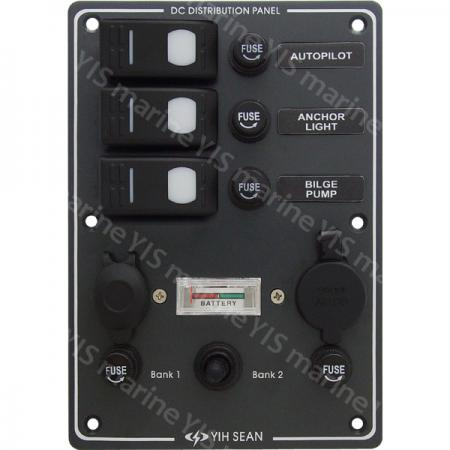 Water-resistant Switch Panel with Dual Sockets - SP3023F-Water-resistant Switch Panel with Dual Sockets+
