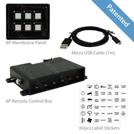 SP5106-6P Membrane Touch Control Panel - SP5106-6P Membrane Touch Control Panel with Remote Control Box