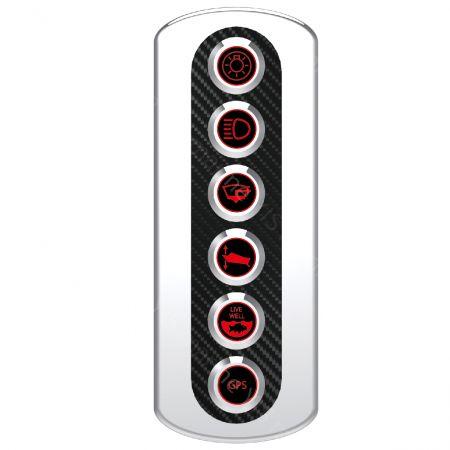 6P Carbon Fiber Switch Panel - SP6006 Carbon Fiber Switch Panel
