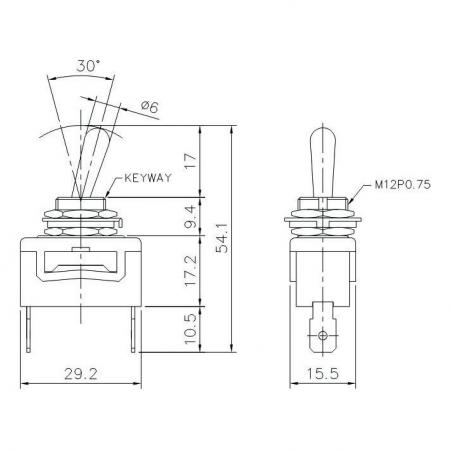T-1325P Product Dimensions