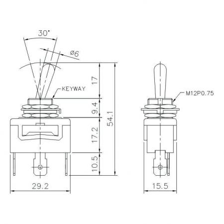 T-1327P Product Dimensions