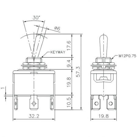 T-1330P Product Dimensions