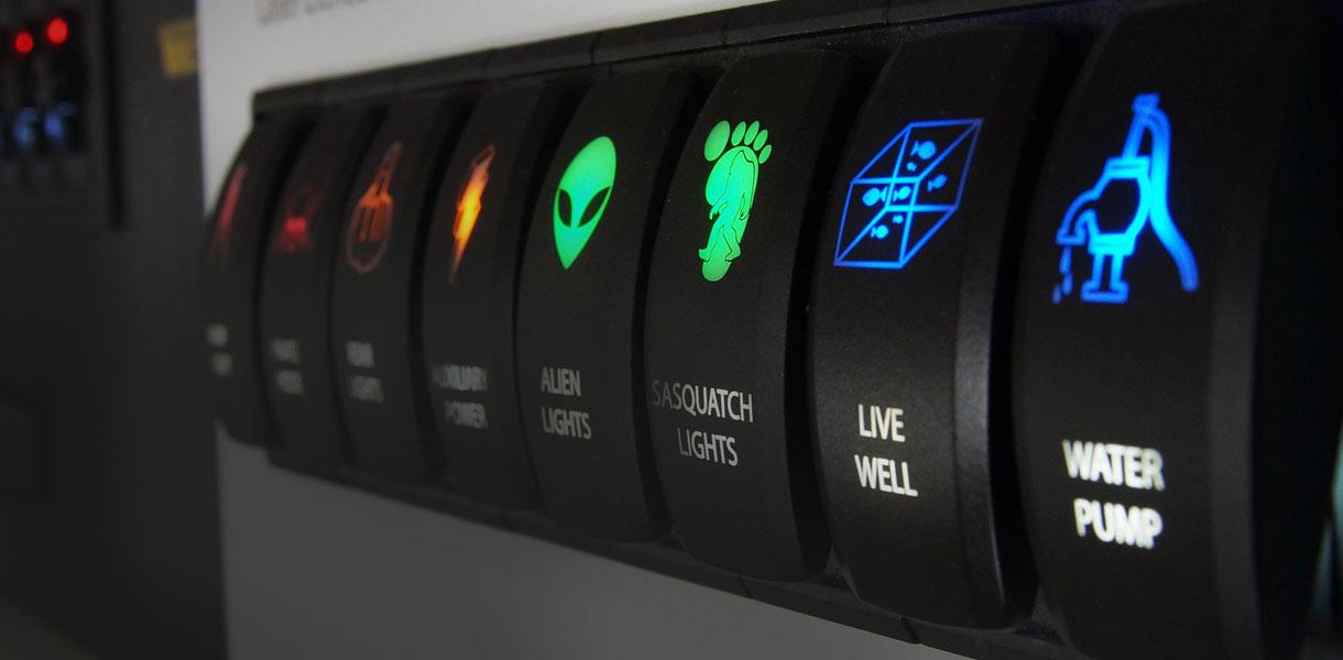 IP67 С подсветкой Кулисный переключатель