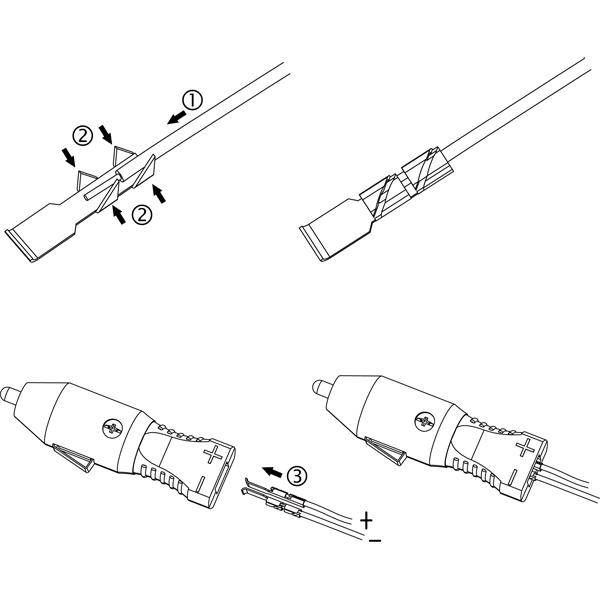 AP106-Cig. Lighter Plug with Insert 'n' Lock Terminals