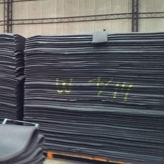 Neoprene Description - Neoprene sheets which are ready to be splited and laminated.