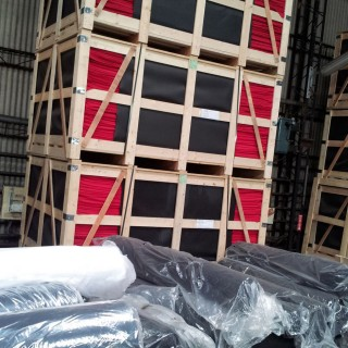Neoprene Packing - Neoprene sheets packed by crate.