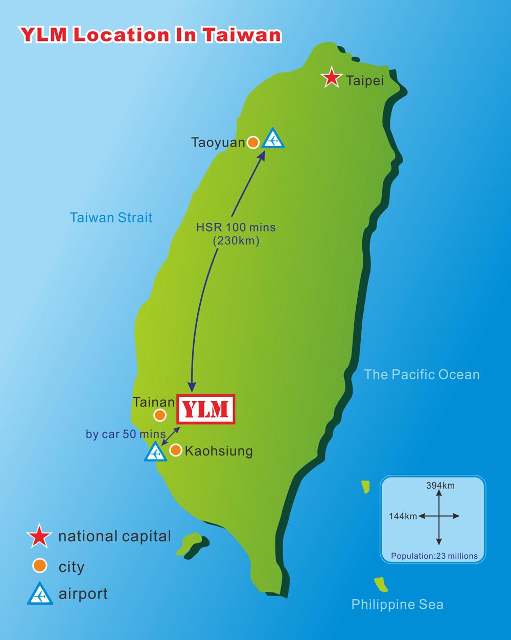 联络我们 - YLM 集团位置图