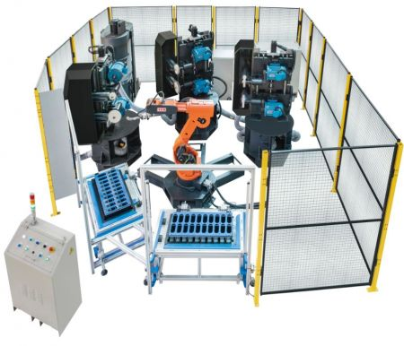 6 Axes Articulated Robot - Polishing work cell - YLM POLISHING WORK CELL with 6 Axes Articulated Robot