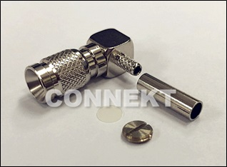 1.0/2.3 Plug Crimp Type, Right Angle