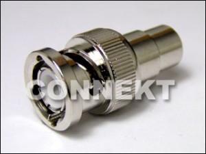 BNC Plug To RCA Jack Adaptor