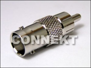 BNC Jack To RCA Plug Adaptor
