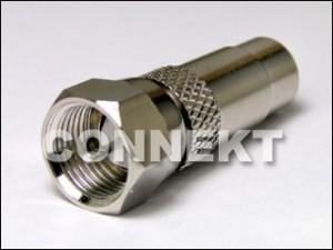 F Plug To RCA Jack Adaptor