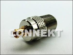 F Jack To MCX Plug 75ohm Adaptor