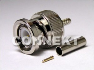 BNC Plug Crimp Type (Pin In Pin)