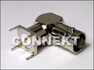 BNC Jack For P.C.B Mount, Right Angle