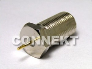 F Jack Bulkhead Connector