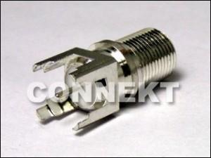 Conector F para montagem PCB
