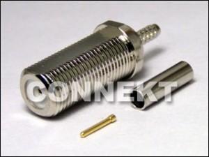 Typ zacisku grodziowego F Jack dla kabla RG179