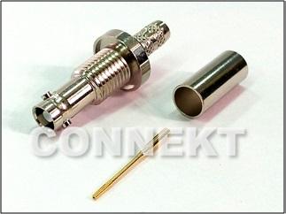 12G-SDI UniqueBNC Jack For 1855A Cable (Crimp, 75ohm)