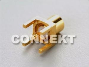 Gniazdo MCX do montażu na płytce drukowanej (4 nogi)