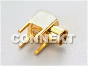 MCX Jack For P.C.B Mount (4 Legs), Right Angle