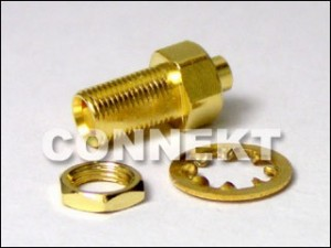 MCX Jack Bulkhead Solder For Semi-Rigid Cable