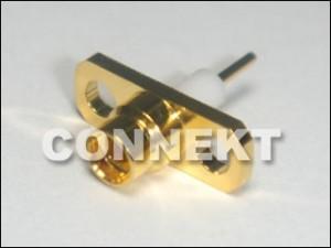Gniazdo MMCX do montażu na panelu, (2 otwory, odsłonięty teflon)