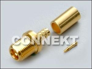 Typ zacisku grodziowego MMCX do kabla RG316/RG174/RG188/RD316