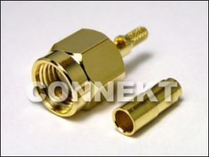 SMA Plug RP Crimp/Solder Type For 1.13/ RG178 Cable