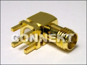 SMA Jack RP For P.C.B Mount, Right Angle