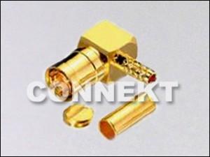 SMB Plug, Right Angle (Crimp)