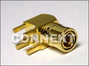 SMB Plug For P.C.B Mount (4 Legs), Right Angle