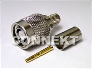 TNC Plug RP Crimp Type