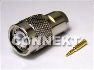 Wtyk TNC do kabla RG58/RG55A/U (zacisk)