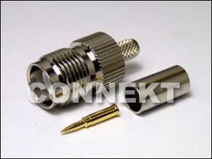 Gniazdo TNC RP do kabla RG58 (zaciskane)