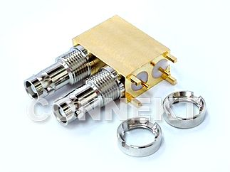 12G-SDI UniqueBNC Dual Jack For P.C.B Mount Right Angle (75ohm)