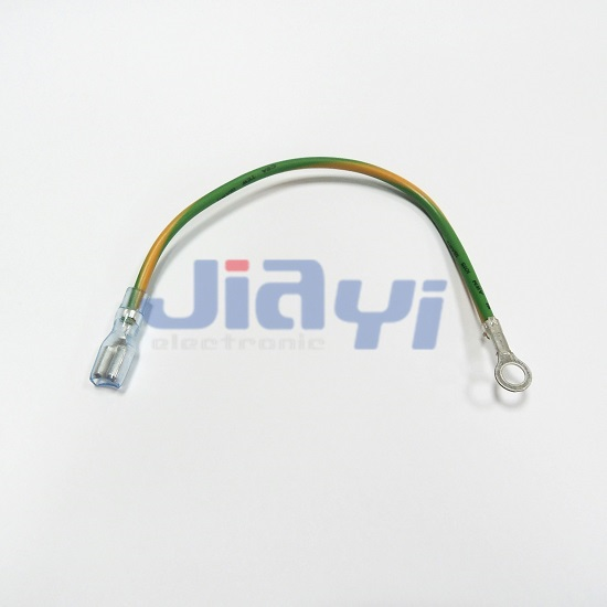 Non-Insulated 187 Female Terminal Wire - Non-Insulated 187 Female Terminal Wire