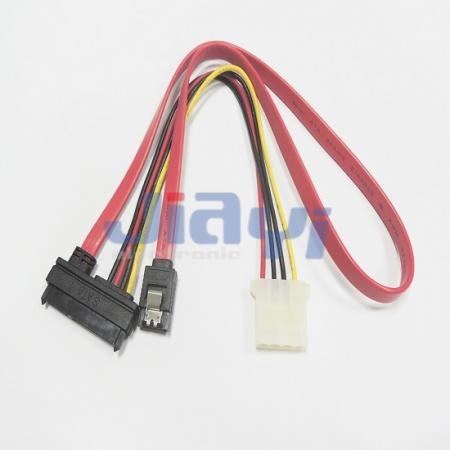 SATA Cable with Power and Data Connector