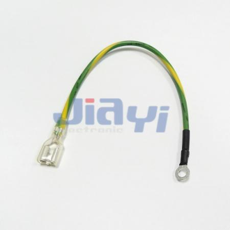 Custom Wire Harness with Non-Insulated 250 Type Female Terminal - Custom Wire Harness with Non-Insulated 250 Female Terminal