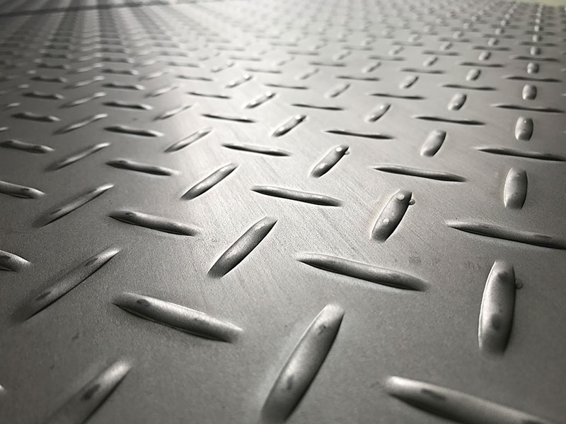 Stainless Steel Checker Plates Manufactured by Stamping