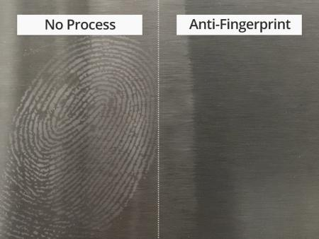 AISI 304 / 304L stainless steel anti-fingerprint sheet is applied anti-fingerprint paint resin as substance. The features are easy to clean, anti-fingerprint, waterproof, scratch resistant and anti-corrosion.