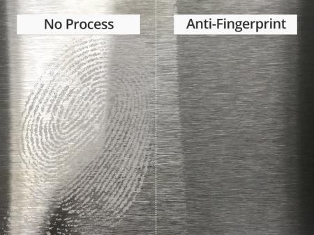 AISI 304 / 304L - Anti Fingerprint Stainless Steel Sheet - AISI 304 / 304L stainless steel anti-fingerprint sheet is applied anti-fingerprint paint resin as substance. The features are easy to clean, anti-fingerprint, waterproof, scratch resistant and anti-corrosion.
