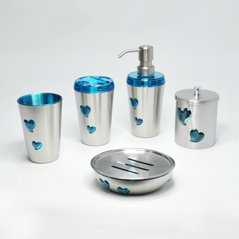 High quality stainless steel bathroom set.