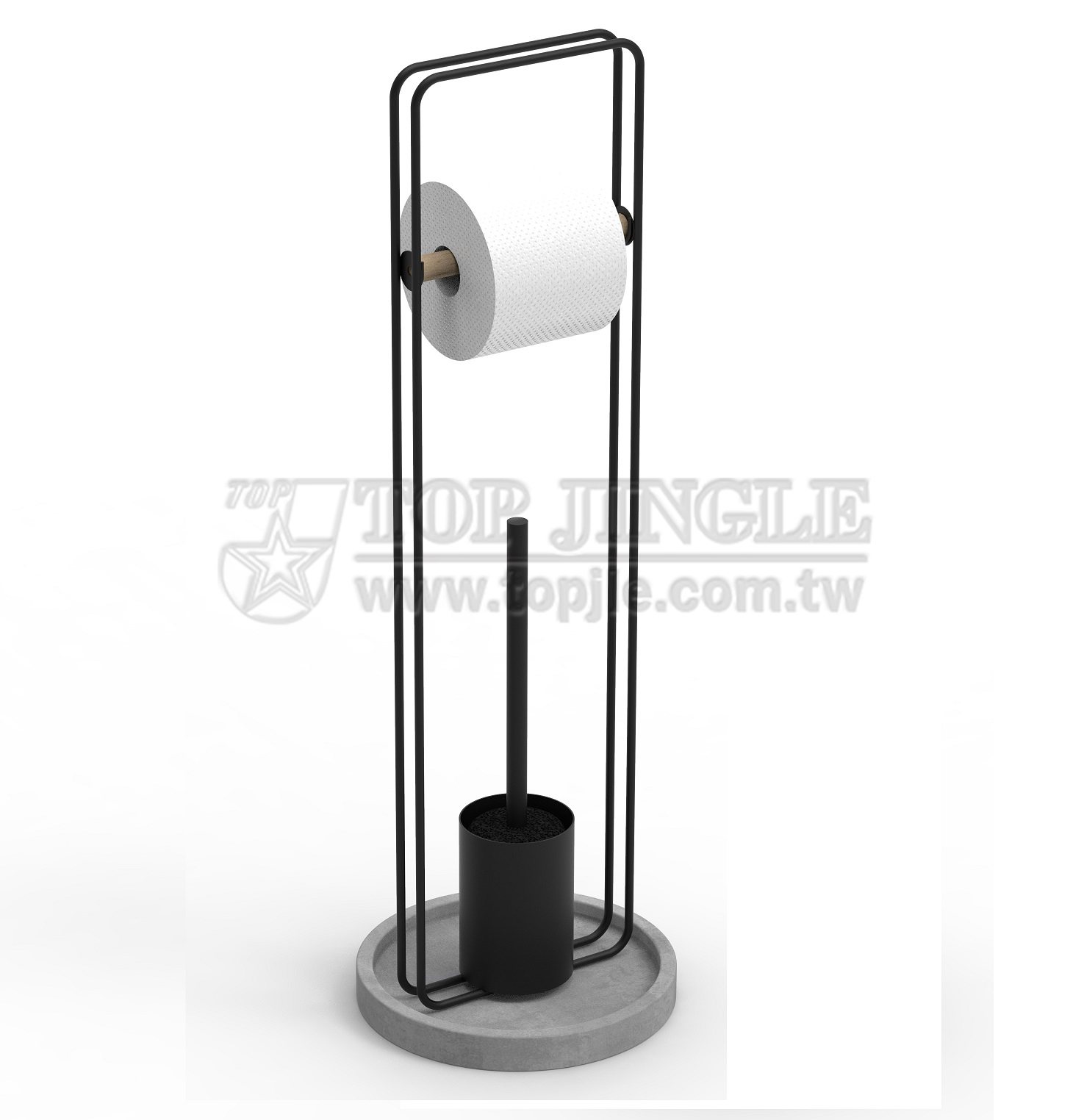 Concrete Toilet Brush And Paper Holder Manufacturer Top Jingle