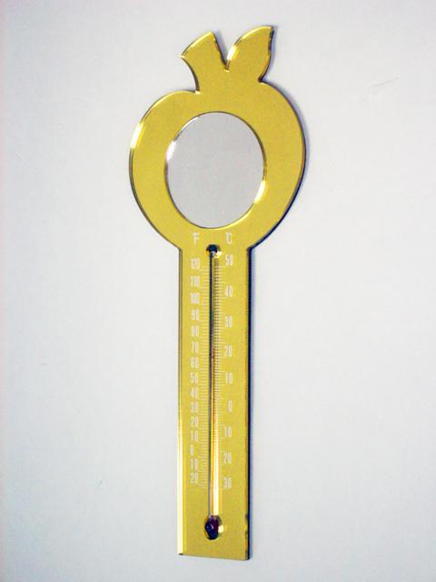 可磁吸的頻果造型溫度計,鏡子