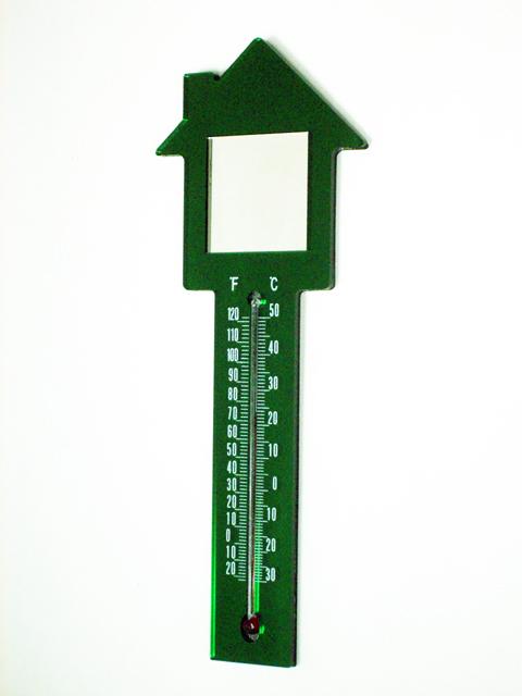可磁吸的房屋造型溫度計,鏡子