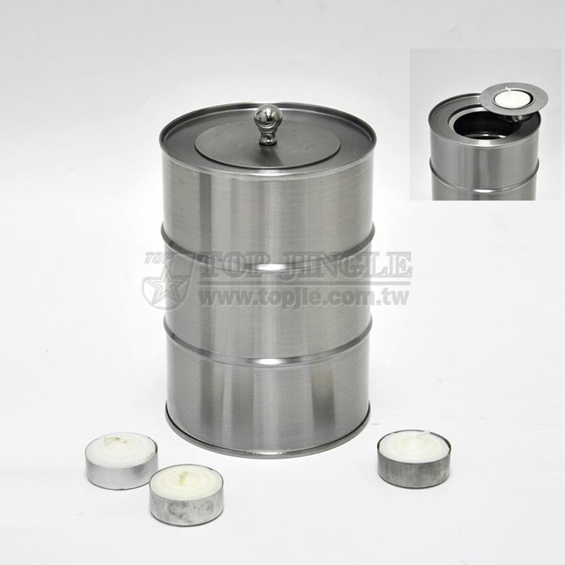 不鏽鋼燭台爐,圓蓋 (中)