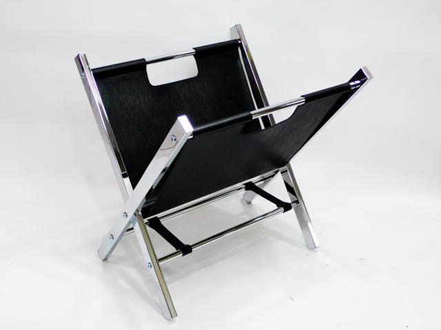 PVC V 모양 블랙 매거진 랙